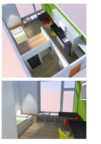 Koz studio apartment spec