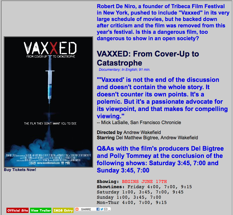 vaxxed cinema 21