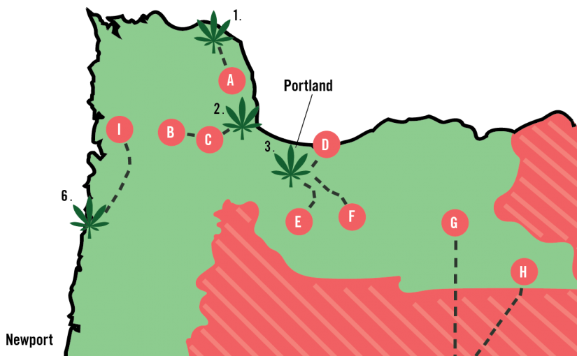 Oregon's Counties Still Living Under Cannabis Prohibition, Mapped.