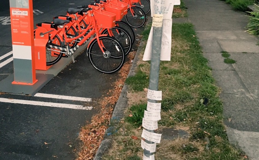 This BikeTown Protest Sign Has Become Portland's Greatest Comment Thread