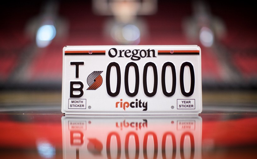 You Can Get a Blazers Specialty License Plate Starting Next Month