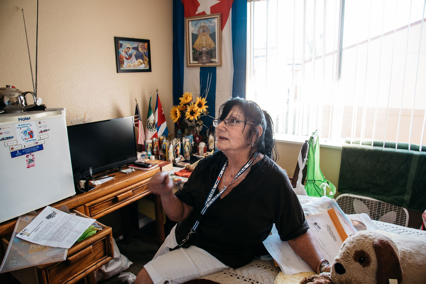 "Ana Luisa Díaz Villegos, 74, moved to the U.S. from Cuba last year. Her monthly rent is more than she receives from Social Security. ""I don't feel secure,"" she says. (Joe Riedl)"