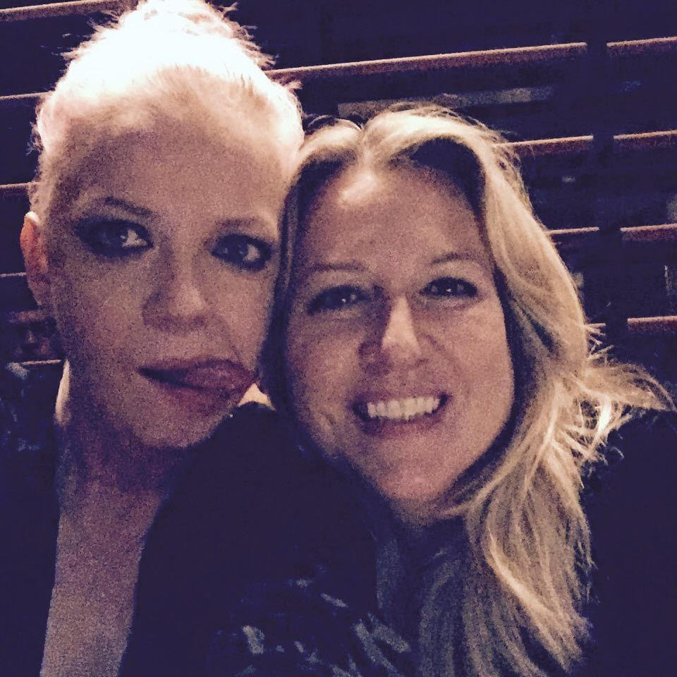 Strayed and Manson, at Strayed's birthday dinner Saturday, September 17