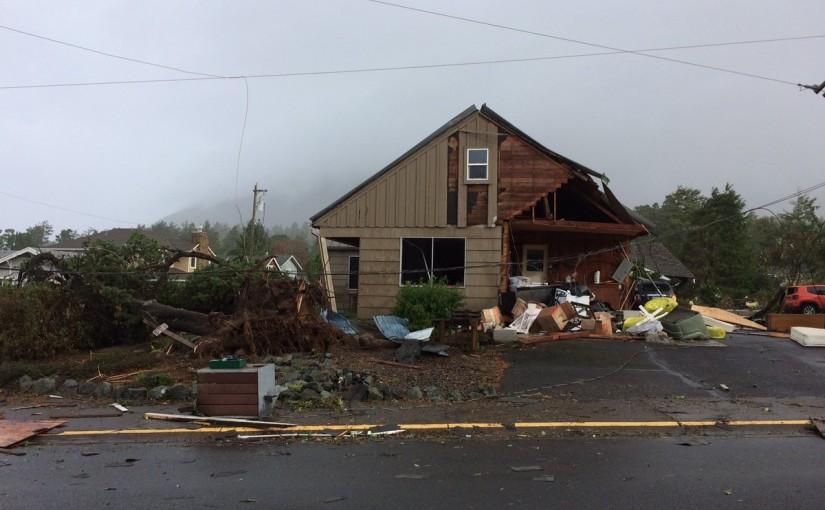 A Tornado Hit Manzanita This Morning
