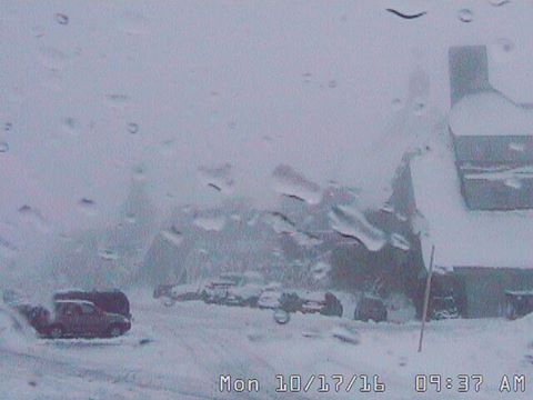 There's Snow at Timberline Lodge Right Now