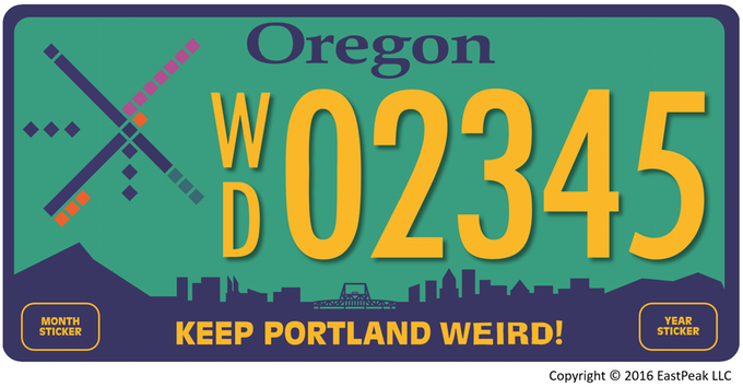 "The State of Oregon Orders an Entrepreneur to Take Down His Kickstarter Campaign For A ""Keep Portland Weird"" License Plate"