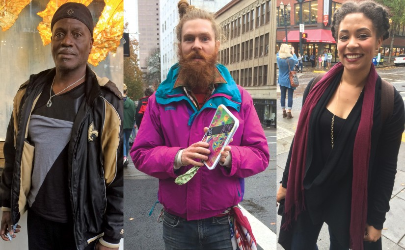 We Asked People on West Burnside Where They Were From, And What They Liked About Portland