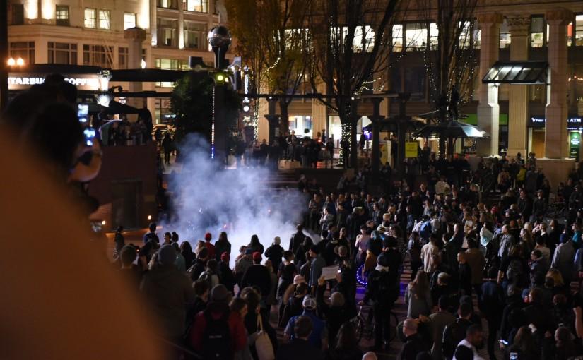 Portland Police: Man Threw Molotov Cocktail into Trump Protest Bonfire
