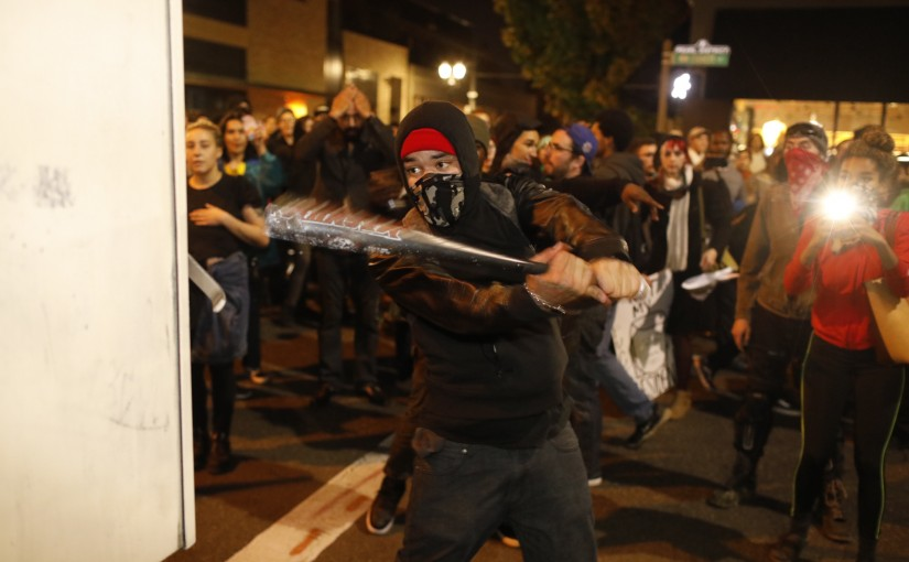Police Deploy Stun Grenades, Rubber Bullets As Anarchy Overtakes Portland's Anti-Trump Protests