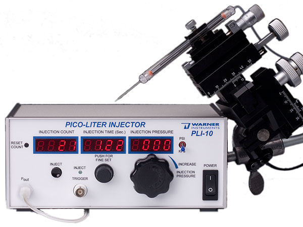 PLI-100A) Picoliter Microinjector | Warner Instruments