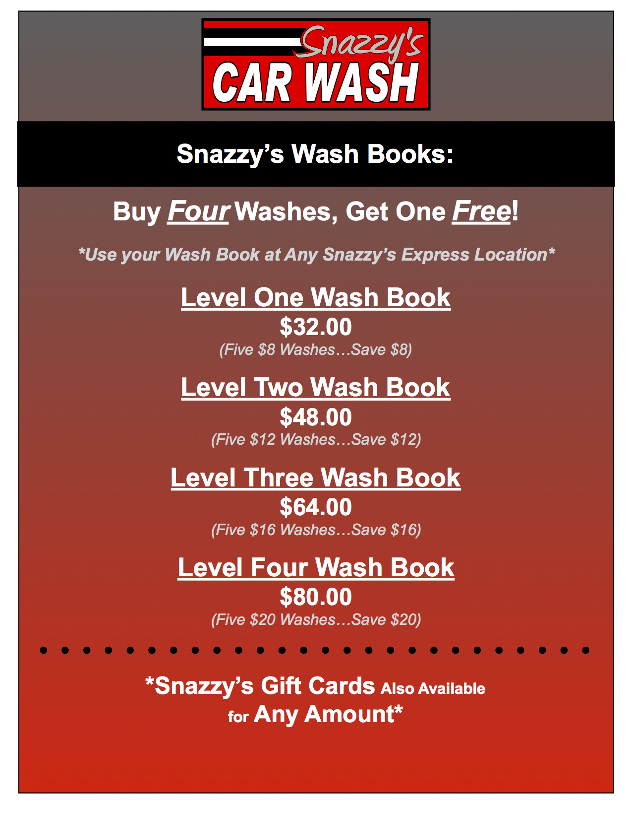 Wash Books