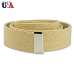 Cotton Stretch Belt with Silver Tip Only