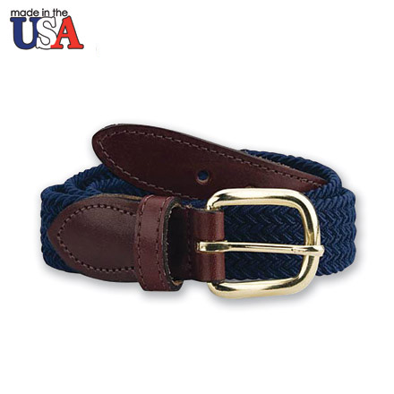 In-Between Adjustable Sizing Braided Stretch Belt with Sized Leather