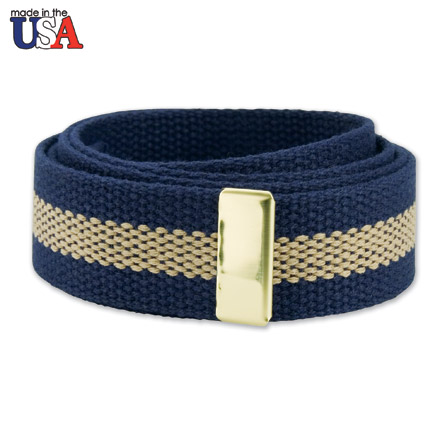 Cotton Web Belt with Brass Tip Only