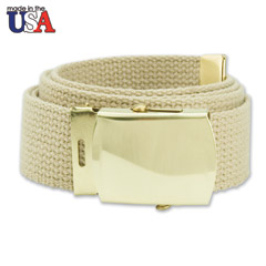 Cotton Web Belt with Brass Buckle
