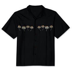 Palm Tree Paradise Embroidered Shirt
