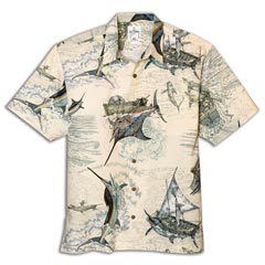 Santiago's Big Blue Print Shirt by Guy Harvey
