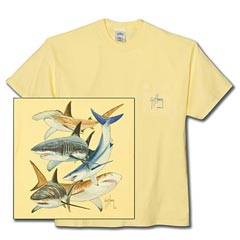 Shark Collage T-Shirt by Guy Harvey