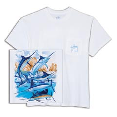 Cabo Billfish Collage Tee by Guy Harvey