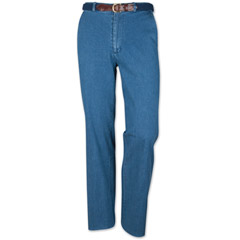 Trinidad Plain Front Stretch Denim Pants by Sportif
