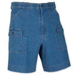 Tidewater Stretch Denim Shorts by Sportif