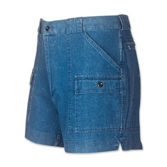 Frequent Traveler Stretch Denim Cargo Shorts by Sportif