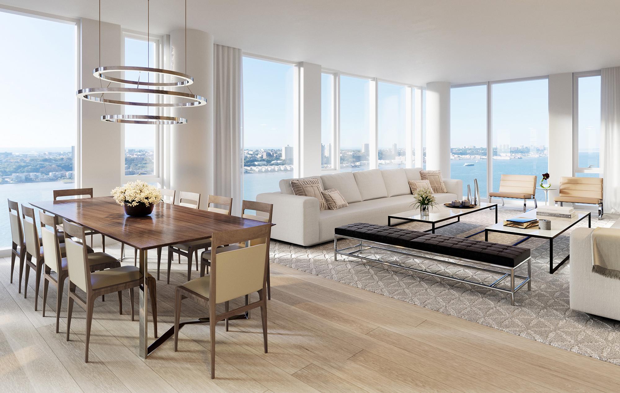 Luxury NYC Condo Living Room