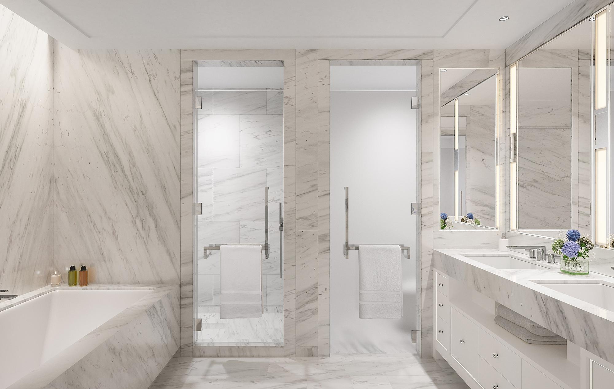 Luxury One Waterline Square Master Condominium Bathroom