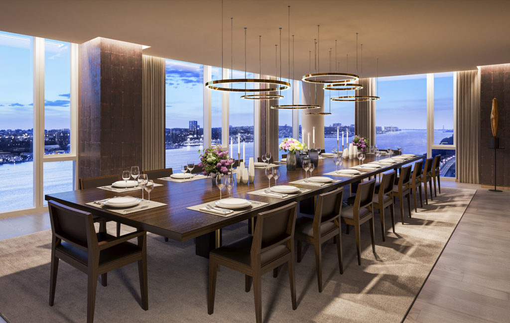 Condo at One Waterline Square with Private Dining Room