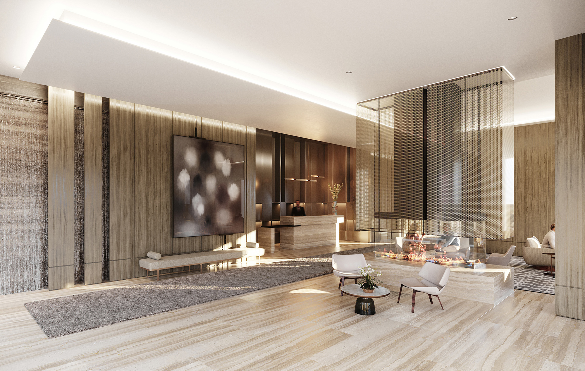 Two Waterline Square Luxury Condominium Lobby