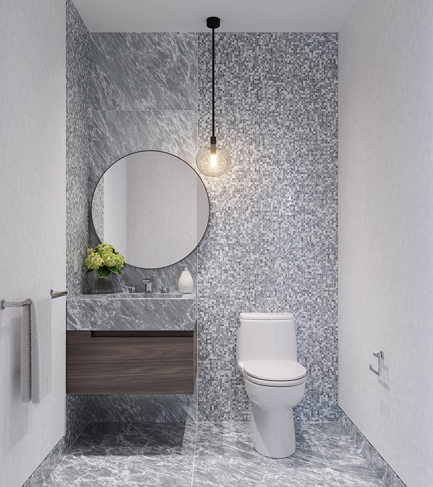 Two Waterline Square Luxury Condo Powder Room