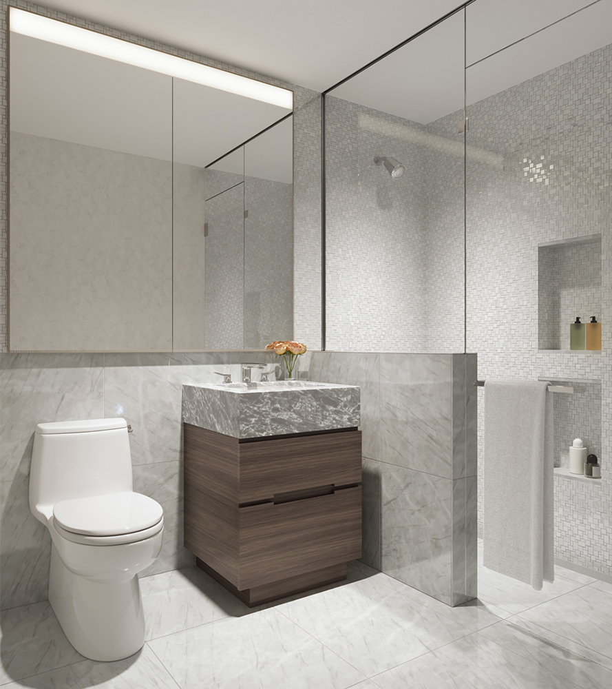 Luxury Condo Guest Bathroom