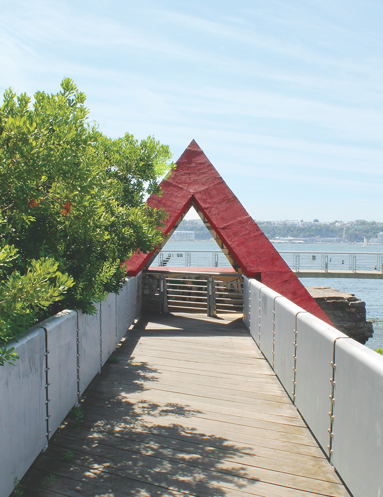 The Decorative Arch at Riverside Park South Near Waterline Square Condos