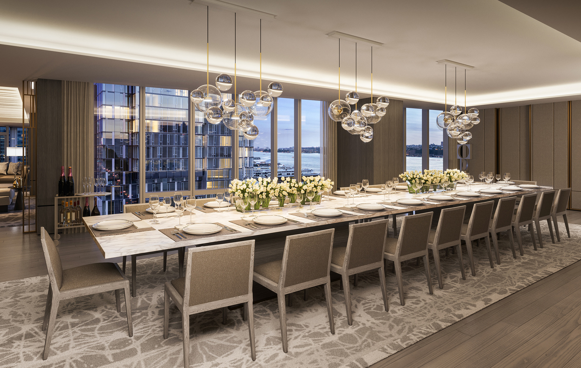 Luxury Dining Table Set in Private Condo
