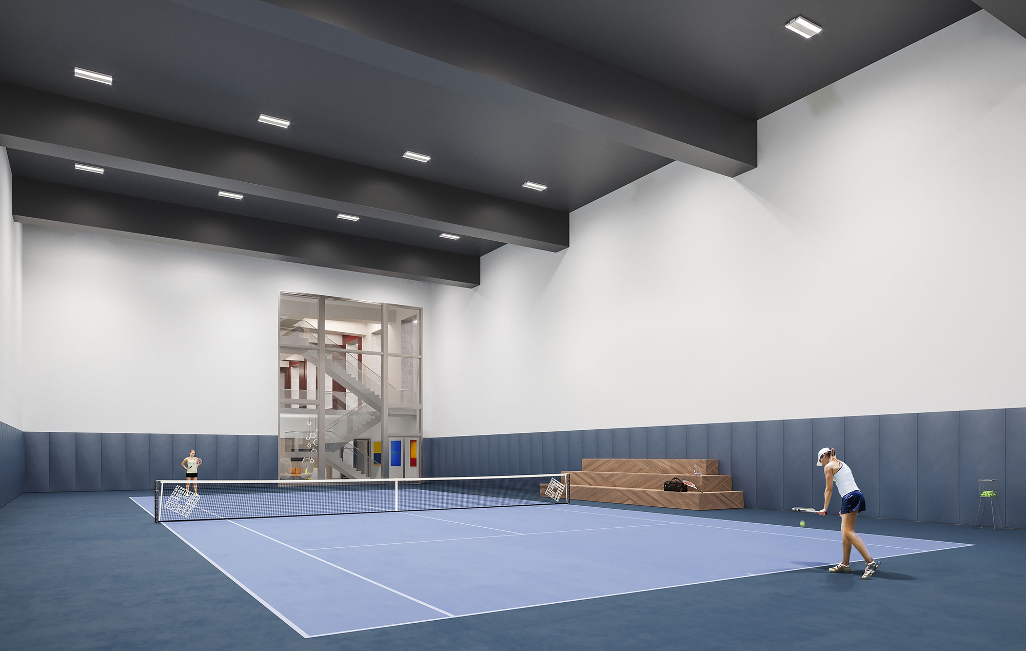 Upscale New York Condos With An Indoor Tennis Court
