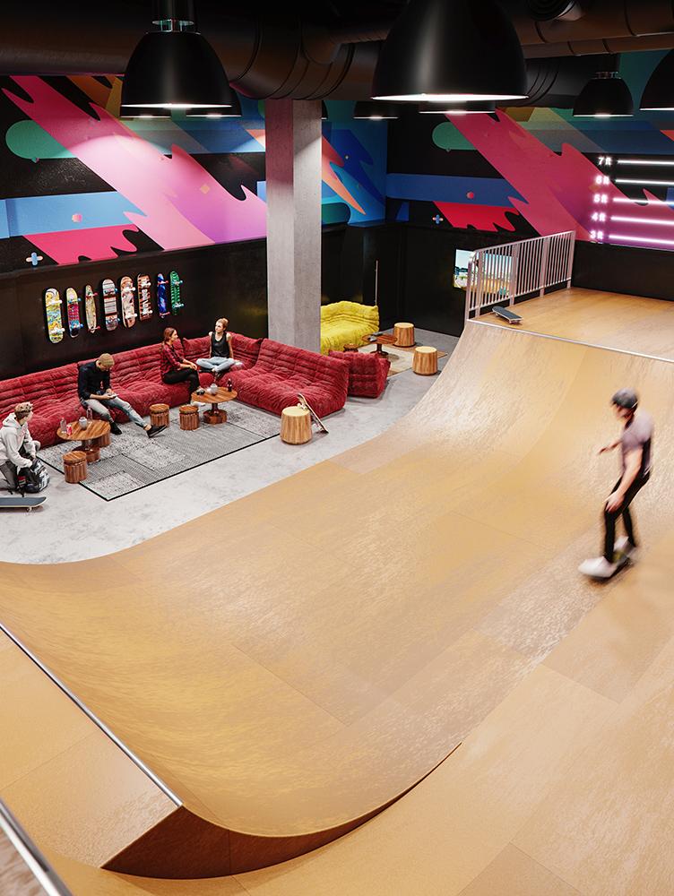 Indoor Skate Park in Manhattan