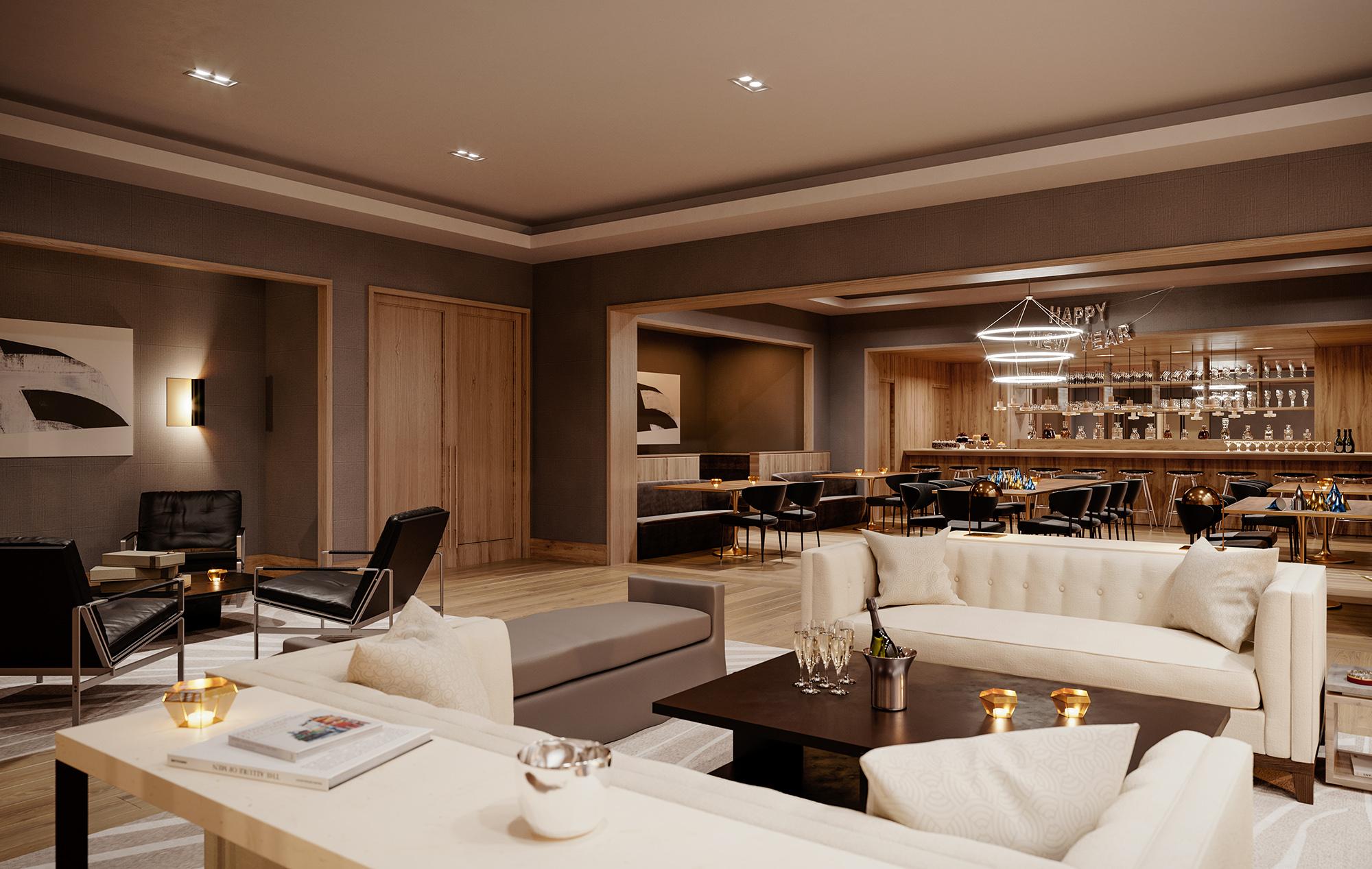Luxury Upper Westside Community Room and Bar