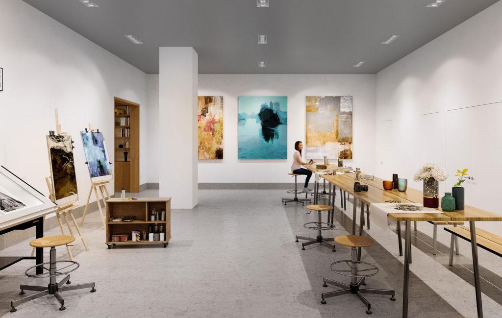 Residences with Art Studio