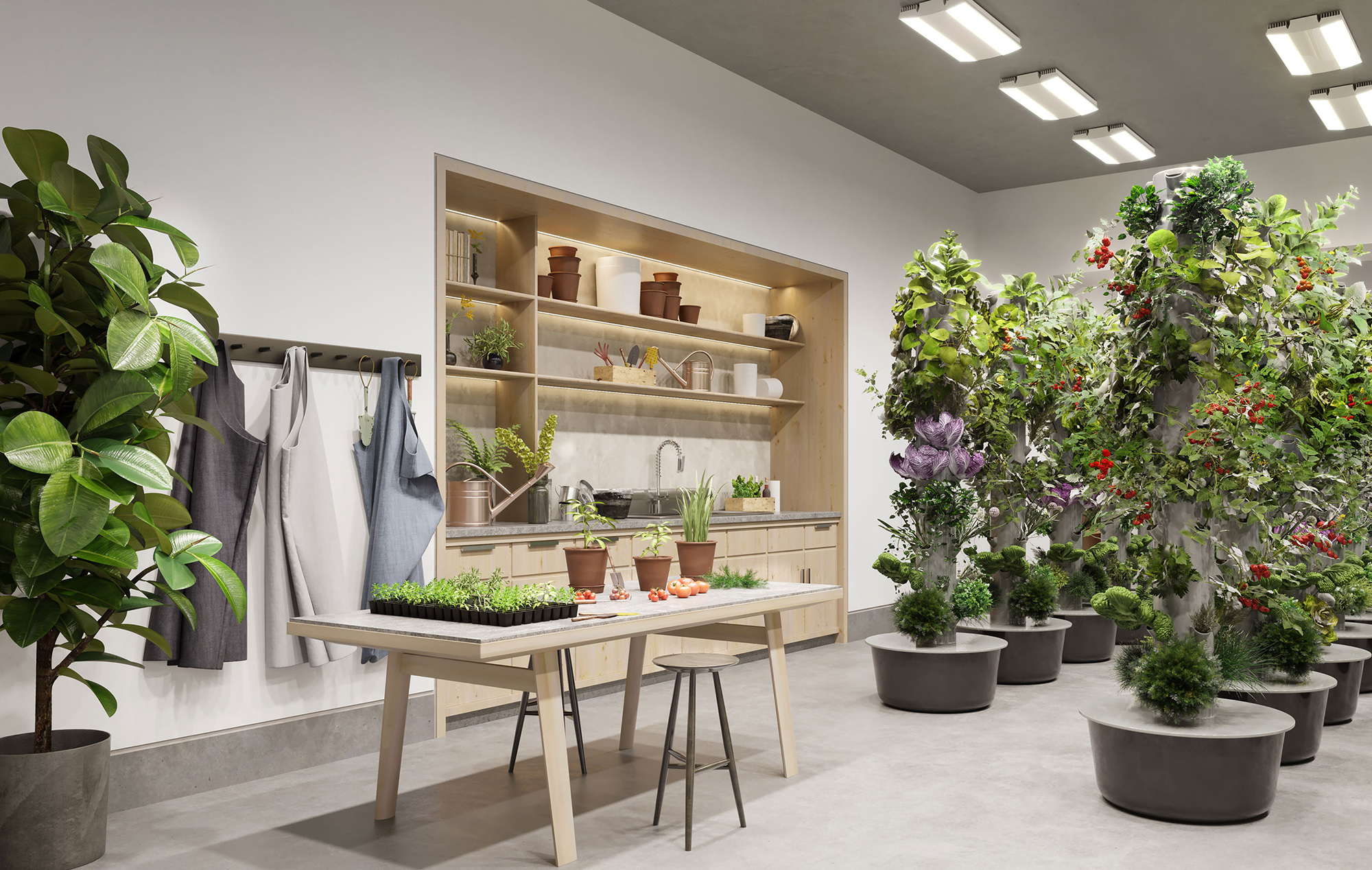 NYC Residences with Communal Indoor Gardening Space