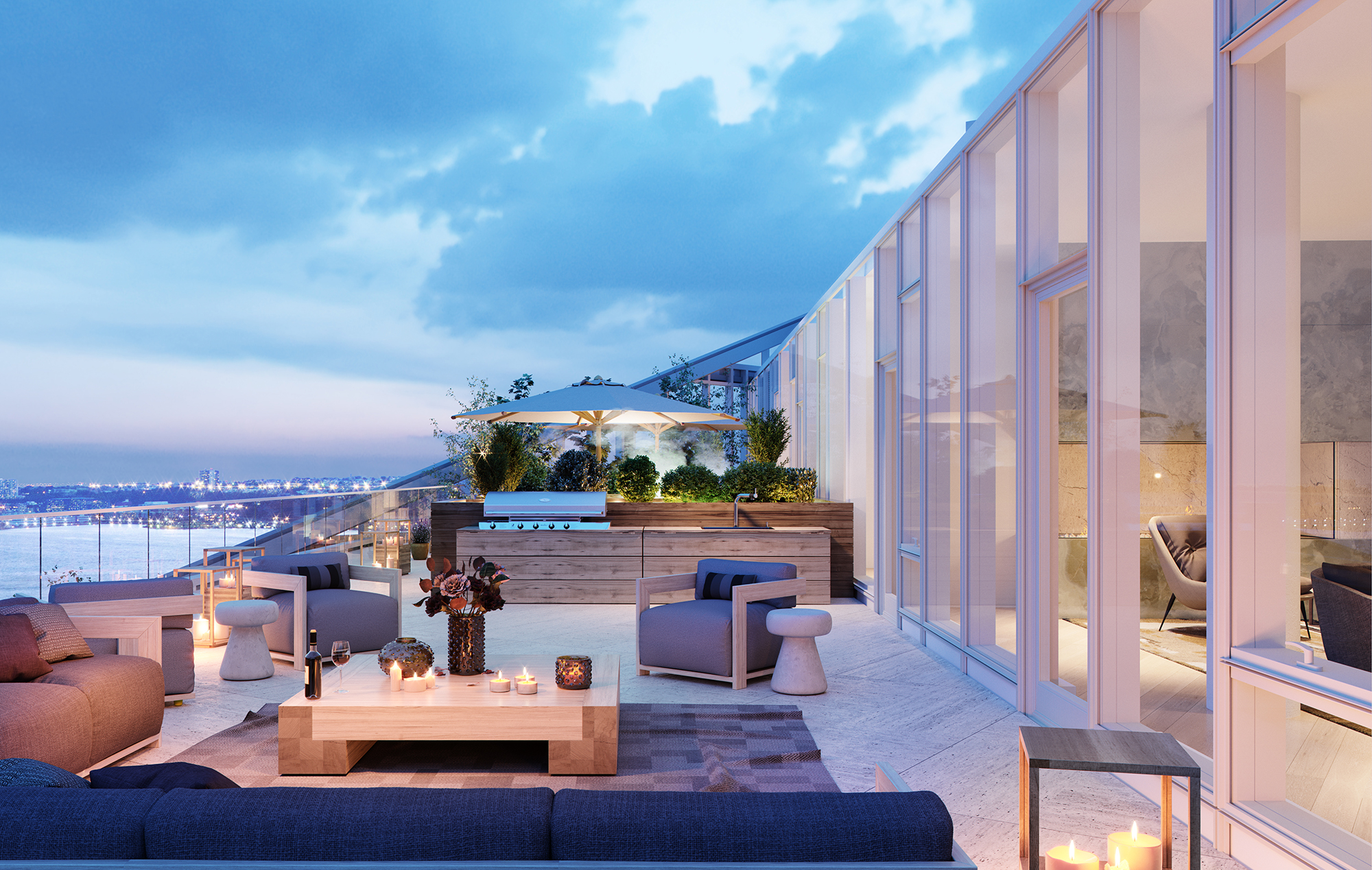 Views from Luxury Condo Penthouse Terrace
