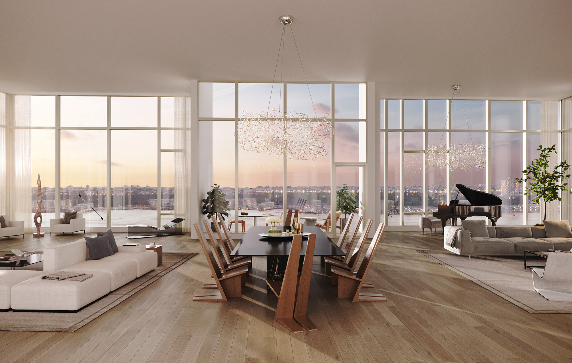 New York Skyline Views Waterline Square Penthouse