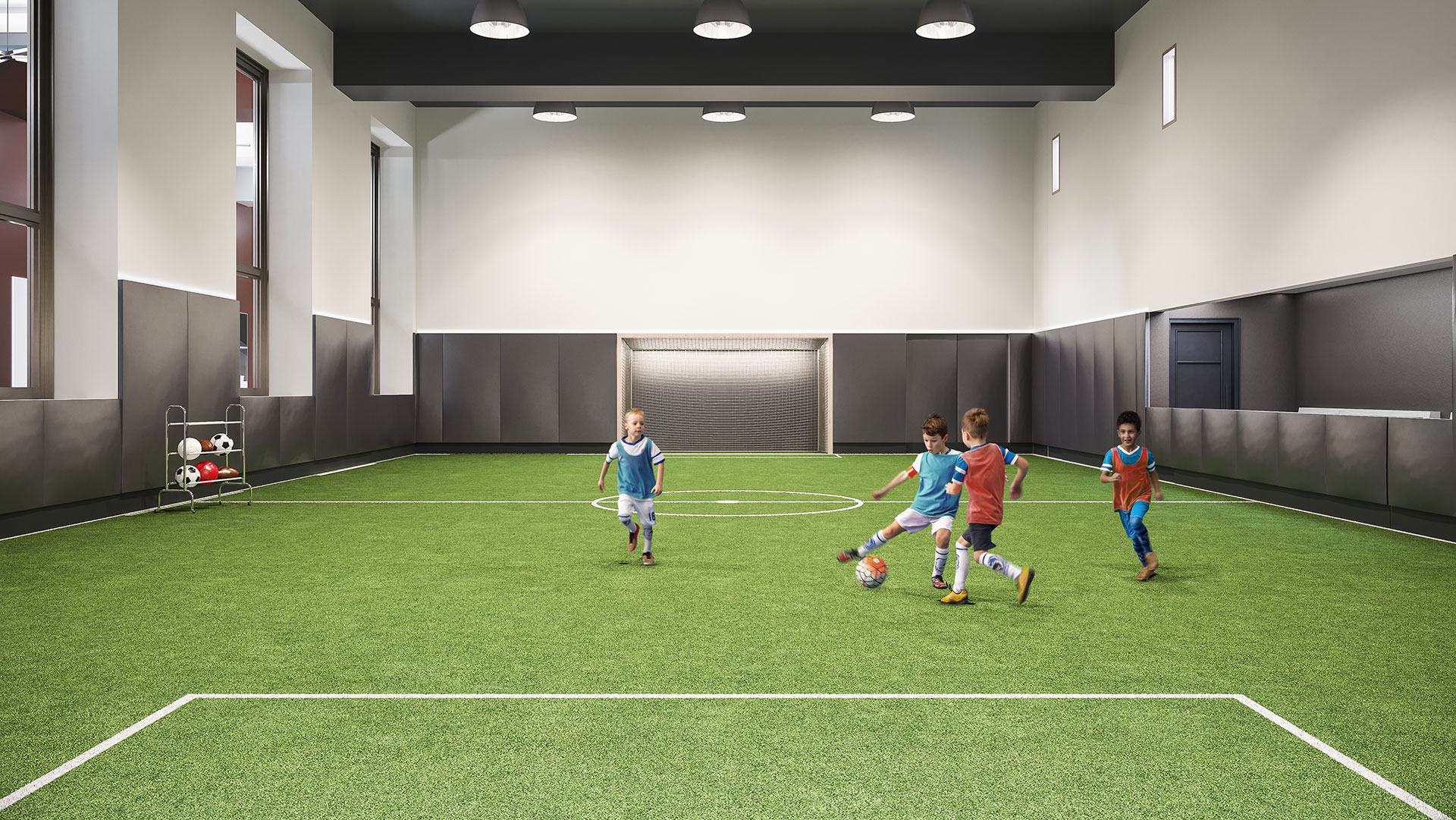 indoor soccer field in manhattan