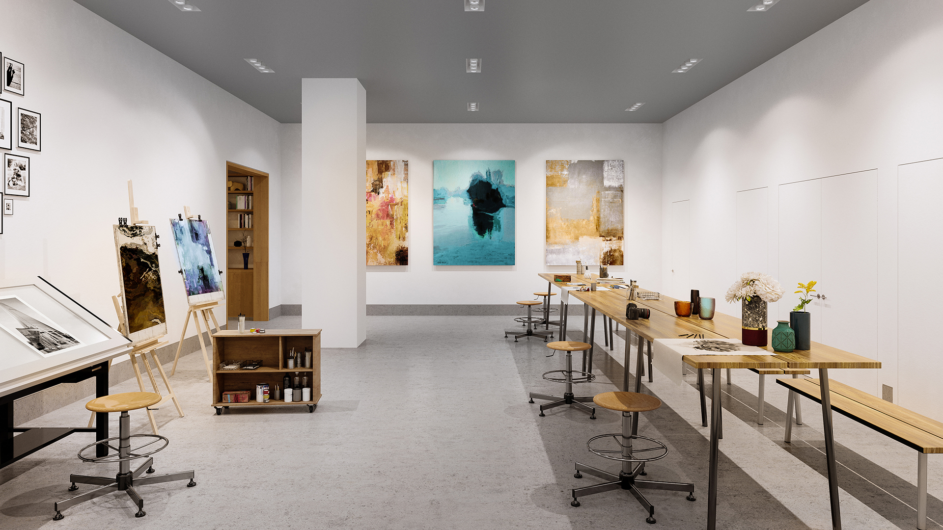 apartment rentals with art room