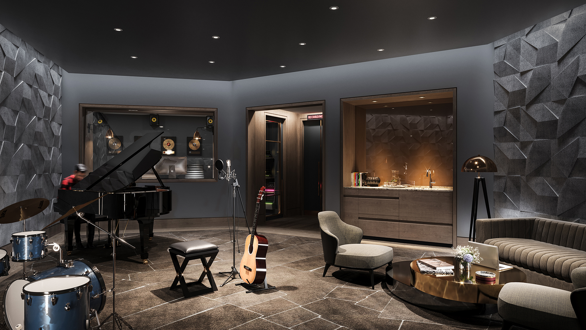 apartment rentals with music room