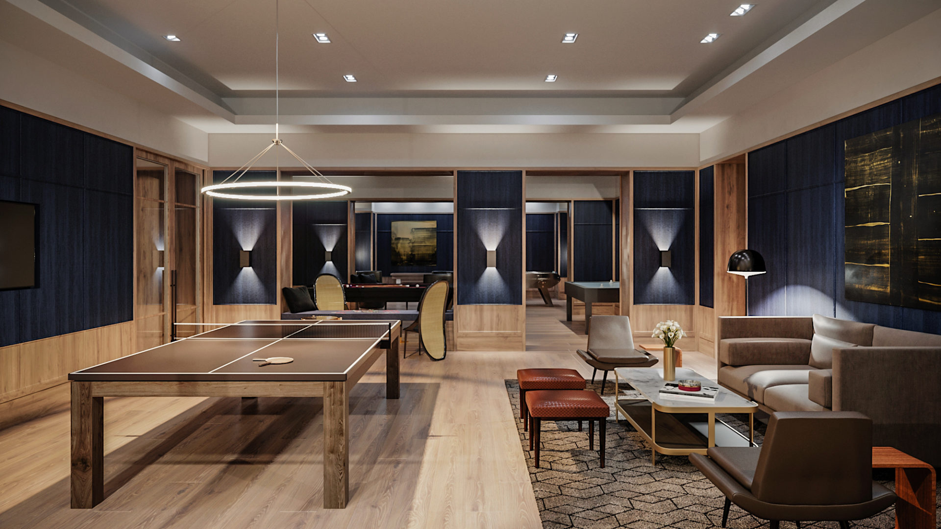 manhattan apartments with game room