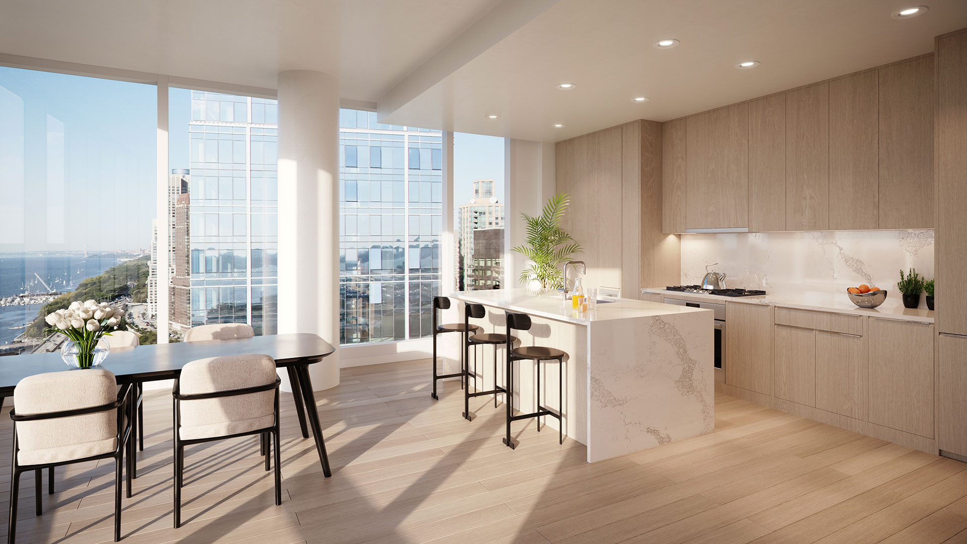 luxury apartment kitchen in nyc