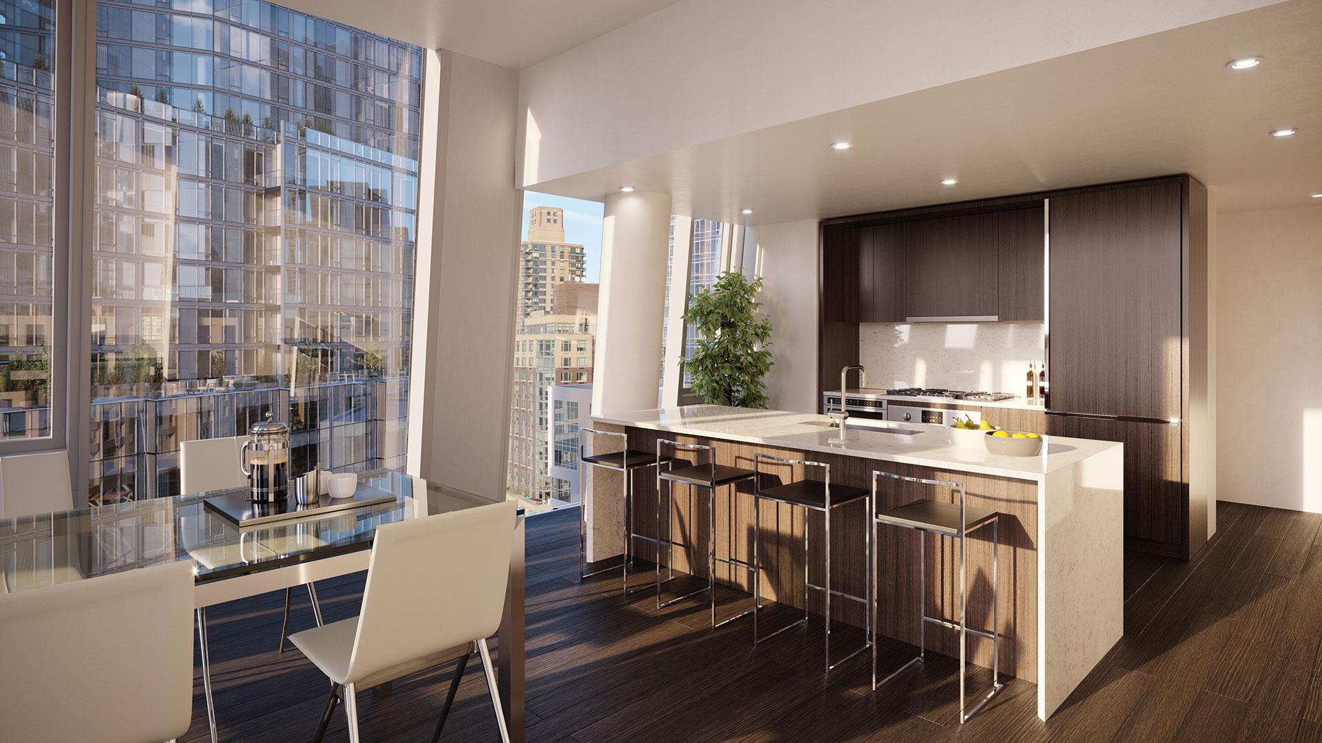nyc apartment luxury kitchen