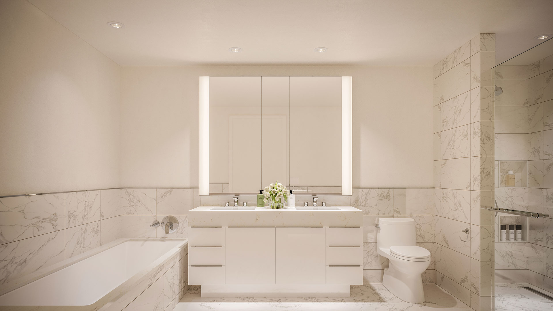 nyc apartment with luxury bathroom