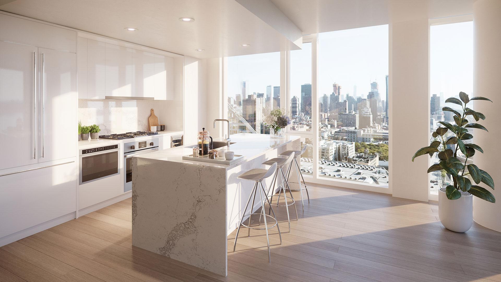 luxury nyc apartment kitchen