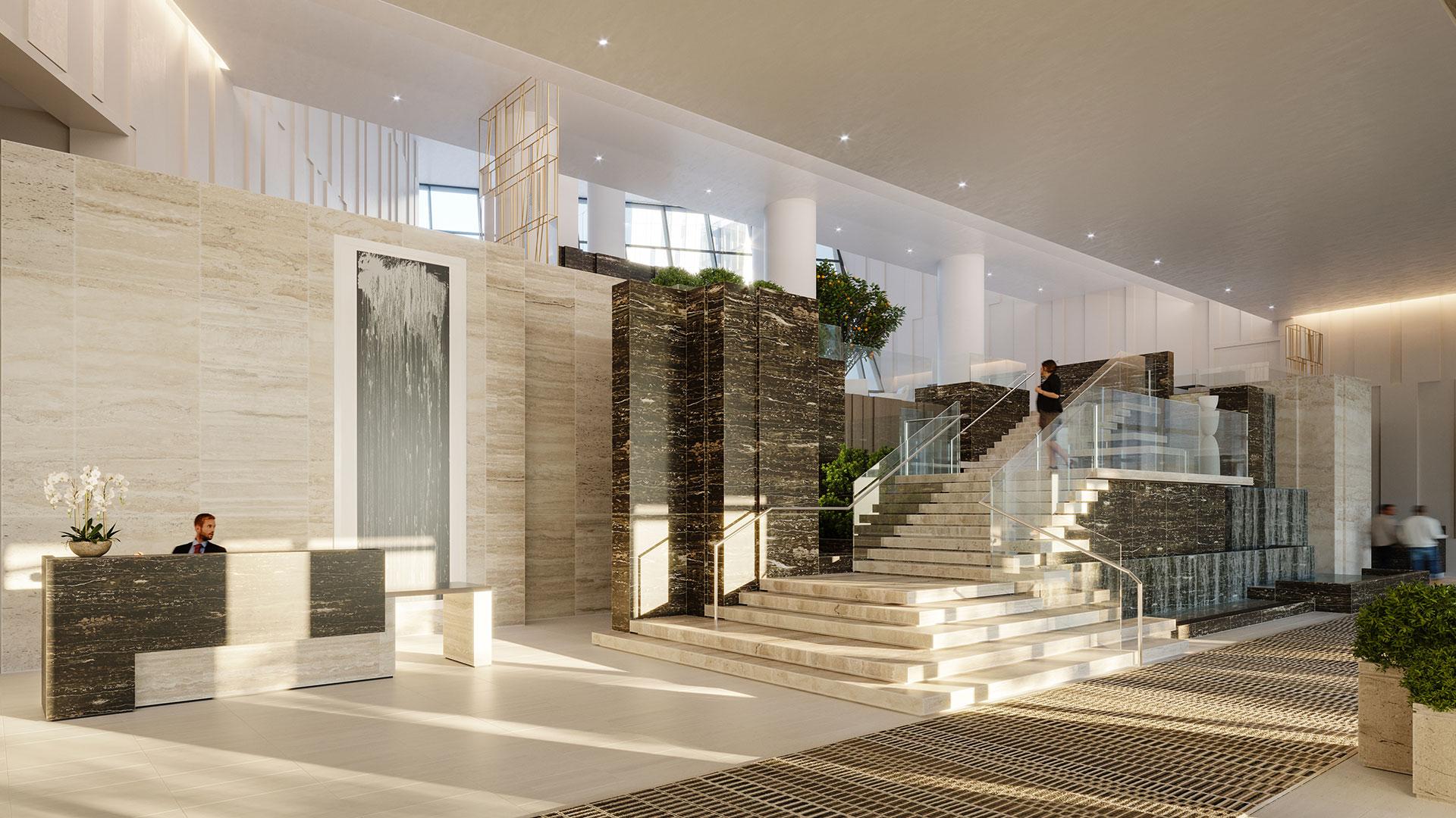 luxury manhattan apartment lobby